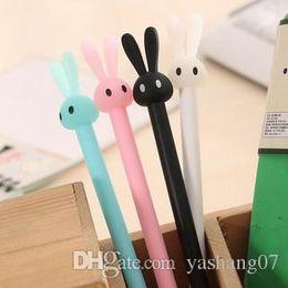 jolis stylos gel Promotion Stylos de gel d'encre noire de lapin de bande dessinée mignonne d'école fournitures de bureau stylo d'étudiant