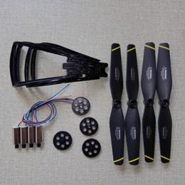 Rc set online-SG700 DM107 Rc Drone Quadrocopter Repuestos Motores Palanca del motor Engranaje principal Conjunto de anillos de protección de la hélice SG700 DM107 Rc Drone Quadrocopter de repuesto