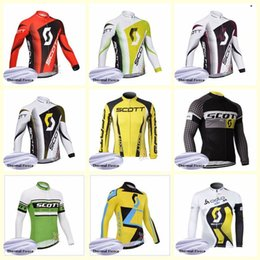 Equipo SCOTT Ciclismo Invierno Jersey de lana térmica Venta caliente 2019 Hombres ropa ciclismo MTB Bicicleta ropa al aire libre U81429 desde fabricantes