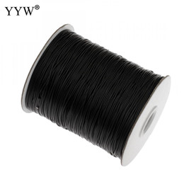 configuración de la joyería de oro 14k Rebajas 0,5 mm / 0,8 mm / 1 mm / 1,5 mm / 2 mm 100yards / Cable carrete de nylon Negro Cadena Kumihimo chino nudo del cordón de DIY que hace resultados de la joyería de la cuerda