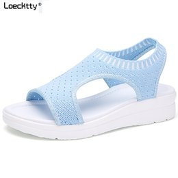 4270e859f01e Loecktty 2018 Sandals Women Summer Shoes Breathable Female Shoes Ladies  Slip On Flat Platform Sandals Shoes Woman Sandalias