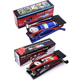 tubi di piedi Sconti Pompa a pedale multiuso a colori casuali Pompa pneumatica Pedale pneumatico Compressore portatile Alta pressione Tubo singolo