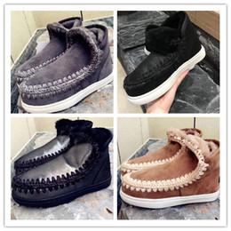 314564e85d5e50 Damen Mini Eskimo Sneaker Mit Schaffell Ankle Fashion MOU Winterstiefel