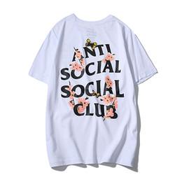 2019 fiore m Camicia AASC Cherry Blossom Maglietta estiva da uomo Camicia stilista di marca Camicie stampate di lusso di alta qualità Camicie di marca Maglietta casual fiore m economici