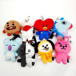 """Giocattoli di roba per ragazzi online-Cartoon BTS BT21 Bangtan Boys 4 """"Plush Doll farcito ciondolo portachiavi giocattoli 8 stile per i bambini migliori regali"""