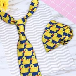 2019 gravatas engraçadas Laço de pescoço de pato amarelo engraçado dos desenhos animados para homens de negócios terno gravata acessórios gravatas engraçadas barato