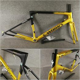 Cornice 46 online-Sagan Oro Nero T1000 UD opaco-lucido SL6 strada del carbonio di telai di bicicletta frameset con BSA / BB30 46-49-52-54-56-58cm X012 trasporto libero