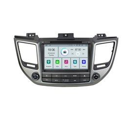 leitor de dvd de carro hyundai Desconto COIKA Android 9,0 Sistema Quad Core Car DVD Player Multimídia Para Hyundai Tucson IX35 2014 + Tela Sensível Ao Toque WIFI OBD DVR SWC 2 G + 16G RAM