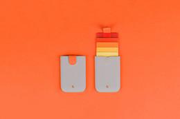 Bolso de dibujo laminado DAX de calidad superior 5 colores deslumbrante gradiente de color bolso de la tarjeta inteligente ultra-delgado billetera de mano para hombres y mujeres desde fabricantes