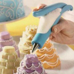 Blaue paspeltasche online-1 satz kuchen dekorieren stift gebäck diy kuchen deco tool kit gebäck-zuckerglasur-piping-beutel (blau) party kuchen dekorieren stift tool kit