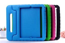 дети шок доказательство ipad покрытие Скидка Портативная дети Безопасный пена удара доказательство Eva ручки чехол крышка подставка для iPad мини 2/3/4 для iPad 1234 5 6 про