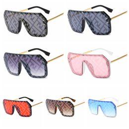 mejores gafas de sol fotocromáticas Rebajas Moda F letra de gran tamaño gafas de sol clásicas de una pieza cuadradas anteojos mujeres viajes al aire libre Flat Top Eyewear LJJT1020