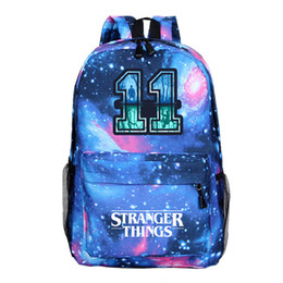 school bag teens Promo Codes - Stranger Things Backpack Hot Sale Men Women Boys Girls School Backpacks Beautiful School Bags Laptop Rucksack for Teens