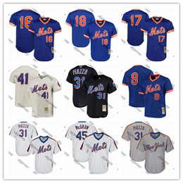Cooperstown kollektion trikots online-Tom Seaver Mets Jerseys Jacob deGrom Dwight Gooden Keith Hernandez Darryl Strawberry Piazza Coopers Sammlung Baseball Jersey