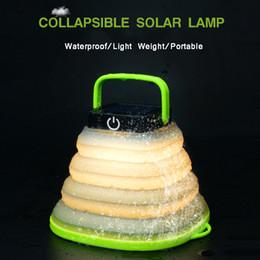 Portable solaire LED camping lanterne lampes de poche pliables 500mAh USB Rechargeable lumière mini tente lampe de secours pour escalade extérieure ? partir de fabricateur