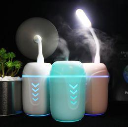 Tatyking Creative Cadeau Trois-en-un Humidificateur Mini Style Portable Maison Aromathérapie Machine De Voiture USB Fan Nuit Lumière PH0143 ? partir de fabricateur