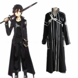 full tv online Coupons - Sword Art Online Costume Kirigaya Kazuto Kirito Cosplay Anime Comic Con Outfits