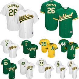 2019 oakland basebol jérsei Camisolas de Atletismo de Oakland, Matt Chapman, Rickey Henderson, Khris, Davis, Rickey, Henderson, Jose, Canseco, Reggie, Jackson, basebol, jersey desconto oakland basebol jérsei