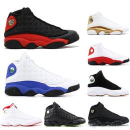 Nike AIR Jordan 13 Avec des chaussettes air libreJordanRétro haute qualité 13 Bred Chicago Flint Atmosphère Hommes Femmes Chaussures de basket ball