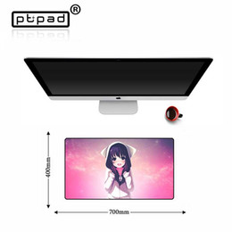 2019 sexy spiele pc Locking Rand Mauspad Sexy Anime-Karikatur großen Computer Muismat Anti-Rutsch-Tastatur Gaming Spielgamer Tablet PC Mousepad Desk Mat rabatt sexy spiele pc