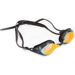 Óculos de natação espelhados on-line-Profissional Óculos de Natação Chapeamento Óculos de Natação Espelhado À Prova D 'Água para Homens Mulheres Adultos Anti Fog UV Esporte Corrida de Natação Goggle