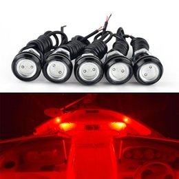 waterproof eagle eye Coupons - 10pcs 23MM LED eagle eye car fog DRL daytime reverse parking signal yellow blue white red waterproof daytime running lights 12V