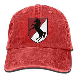 f0d2890bf3 2019 Nuevas gorras de béisbol sencillas 11armored Cavalry Corps Patch Trend  Impreso Cowboy Hat Moda Béisbol Sombrero Hombres y mujeres Negro