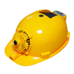 solar helmets Coupons - Solar Charging Power Bank Air Conditioner Cooling Fan Outdoor Working Hard Hat Construction Worker Helmet.