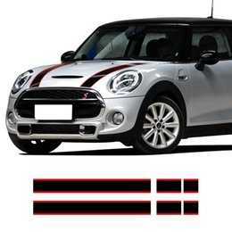 Bonnet Rear Side Skirt Racing Stripes Cobra Decal Stickers for Mini Cooper F55