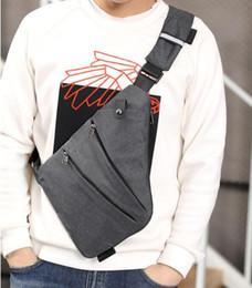 saco de armazenamento saco de peito de nylon de telefone digital dos homens pendurada bolsos esportes impermeável ocasional ombro um pessoal anti-roubo saco 2019 de