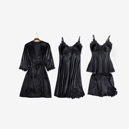 2020 vestiti da notte di raso nuovi pijama Mujer pigiami di seta delle donne molli biancheria da notte in casa vestiti pijama pigiama femme raso della biancheria sexy vestito notte usura di sonno vestiti da notte di raso economici