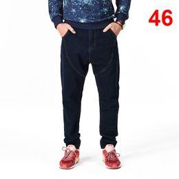 jeans di colore maschile Sconti Pantaloni jeans uomo Casual Jeans tinta unita Jeans larghi Uomo 2019 Pantaloni jeans maschili moda Plus Size HN24