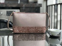 green body glitter Promo Codes - Brand designer Glitter leather Patchwork shining shoulder bags shoulder messenger bag crossbody