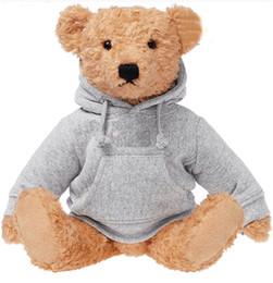 2019 giocattoli a maglia all'ingrosso NUOVI Regali per bambini Ted Bears Cute Bears Ins giocattoli di peluche con vestiti 18Box Logo giocattoli di peluche Regali di Natale per le vacanze di Natale