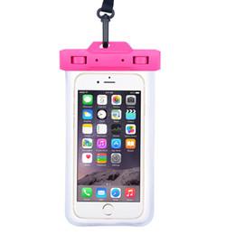 Modelos de cajas móviles online-Funda impermeable para teléfono móvil para iphone x 6 7 8p todos los modelos 6 pulgadas bolsa de baño Con cordón