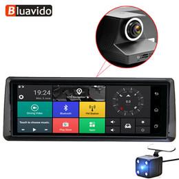 "gps ingegneria Sconti Bluavido 8 ""IPS 4G ADAS Car DVR Android Navigazione GPS FHD 1080P Dash Camera Dual Lens Videoregistratore per auto WiFi DVR Bluetooth"