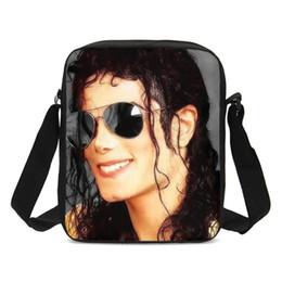fashion sling bag girls Coupons - Crossbody Bags For Boys Girls Fashion Michael Jackson 3D Printing Sling Bags Small Shoulder Bag Handbags Casual Messenger