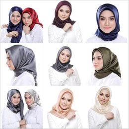 2019 fester roter schal chiffon 2019 neueste heiße muslimische kopftuch des schal Arabische kopftuch reine farbe silk moslemisches kopftuch großhandel