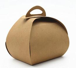 cookies individuais Desconto 50 pcs 9 * 7.5 * 10 cm Marrom Lidar Com Único Cupcake Boxes Embalagem De Doces De Casamento DIY Biscoitos Biscoitos Caixa De Pacote De Papel De Presente