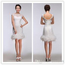 485d739fcb0 Lace Sheath Short Homecoming Dresses Ivory 2019 With Feather Elegant Jewel  Zipper Short Prom Gowns Party Dress