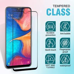 Wholesale Para Samsung A10e Samsung A20 A50 H Versión de EE UU Alta Quailty H Dureza Protector de pantalla de seda Anti Rayado Cubierta frontal completa Vidrio templado