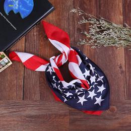 Американская атлетика онлайн-Флаг США повязка на голову американский флаг платок шарф открытый спорт езда маска для лица шарф хип-хоп банданы для мужчин, женщин, аксессуаров DHL