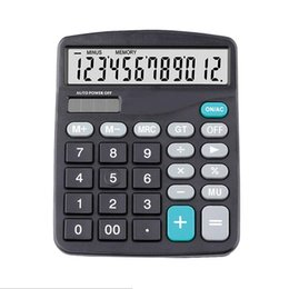 2020 calculadora de bateria solar Calculadora Solar Luz Battery Powered Calculator 12 dígitos Office Home estudo portátil Calculadora do trabalhador de escritório Escola calculadora de bateria solar barato