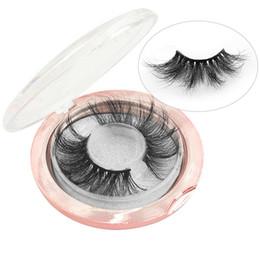 Scatola completa di trucco online-Ciglia di Visone 3D 25mm Visone Ciglio Eye Makeup Spessore Lungo Ricciolo Ciglia di Visone Ciglia Extension Naturale Ciglia Finte Con Scatola RRA1208