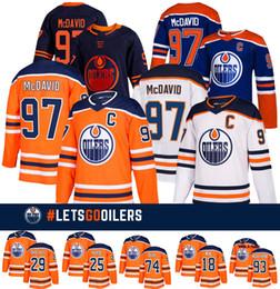 Edmonton Oilers Fanatics Branded Heim abbrechbar Trikots 97 Connor McDavid 29Leon Draisaitl 74Ethan Bär 93Ryan Nugent-Hopkins-Hockeyjerseys von Fabrikanten