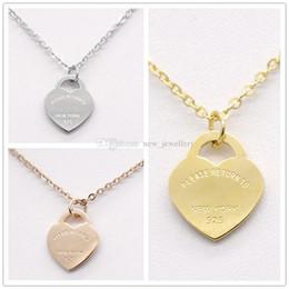 Marca 3 colori argento oro acciaio inossidabile Lettera T amore cuore collana per le donne gioielli da sposa all'ingrosso da