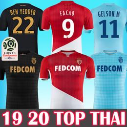 19 20 Monaco Futbol Formaları 2019 2020 ev kırmızı beyaz maillot de ayak 9 FALCAO FABREGAS GOLOVIN JOVETIC GLIK CHADLI Futbol forması gömlek cheap fabregas shirt nereden fabregas gömlek tedarikçiler