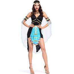 Jogos de moda sexy on-line-Nova Moda Antiga Mitologia Egípcia Deusa Traje Sexy Mulheres Halloween Deusa Cosplay Noite Estágio Desempenho Jogo Uniformes Festivos