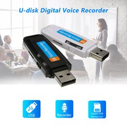 2019 gravador de voz digital sd cartão Cartão carregador USB New Mini Digital Voice Recorder flash de 32GB Pen Drive U-Disk TF Micro Áudio Digital Gravador de voz de suporte SD gravador de voz digital sd cartão barato