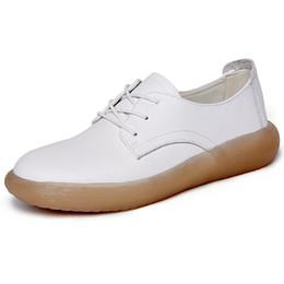 Cuero de las mujeres embarazadas online-Carne de res Tendón Parte inferior Resistente al desgaste Zapatos individuales Zapatos casuales de las mujeres Suave Genuino de cuero de vaca plana conveniente Madre embarazada